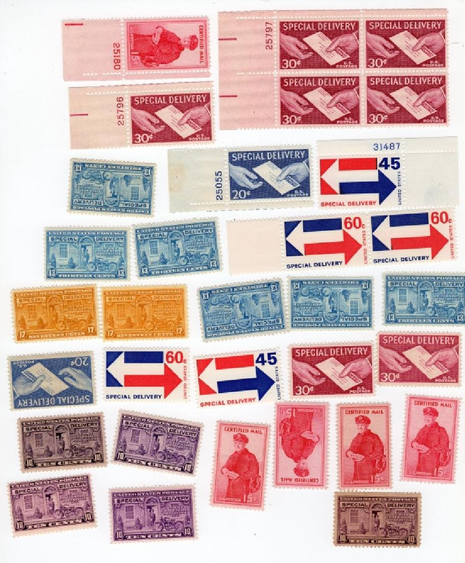 28 US Special delivery & Certified mail BOB stamps