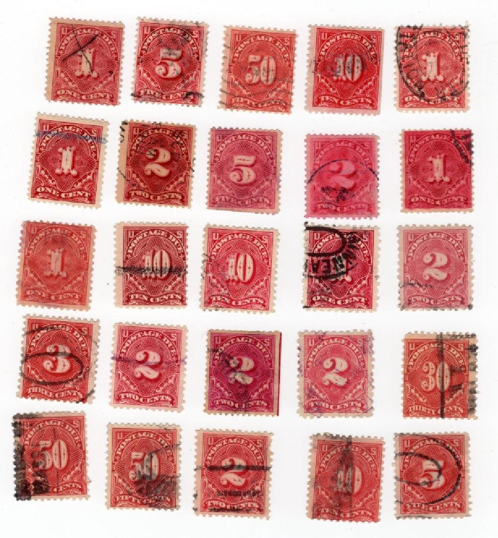 25 US Postage due BOB stamps