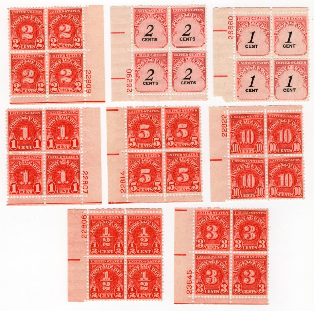 8 Blocks US 1894-1859 Postage due BOB stamps