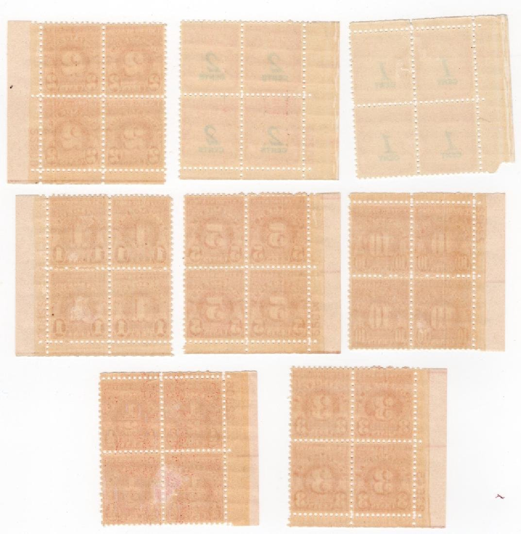 8 Blocks US 1894-1859 Postage due BOB stamps - 2