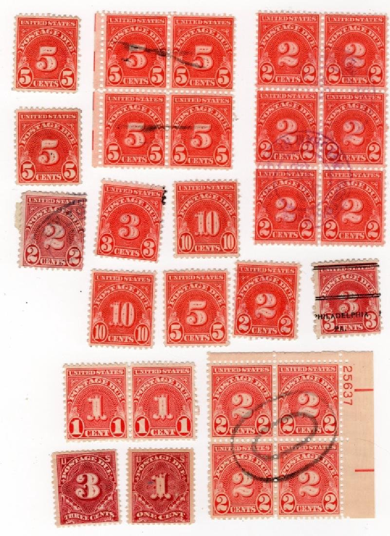 25 US 1894-1925 postage due BOB stamps