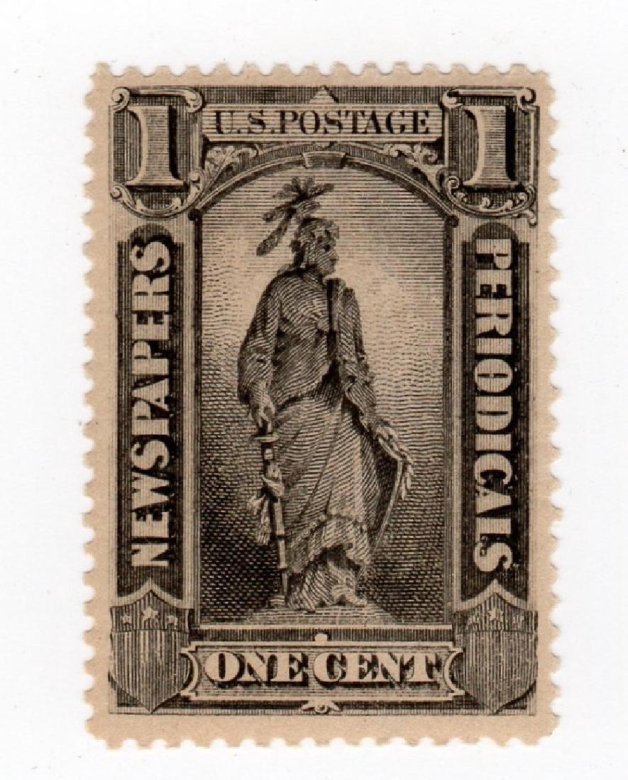 US 1885 1 cent Newspaper BOB stamp