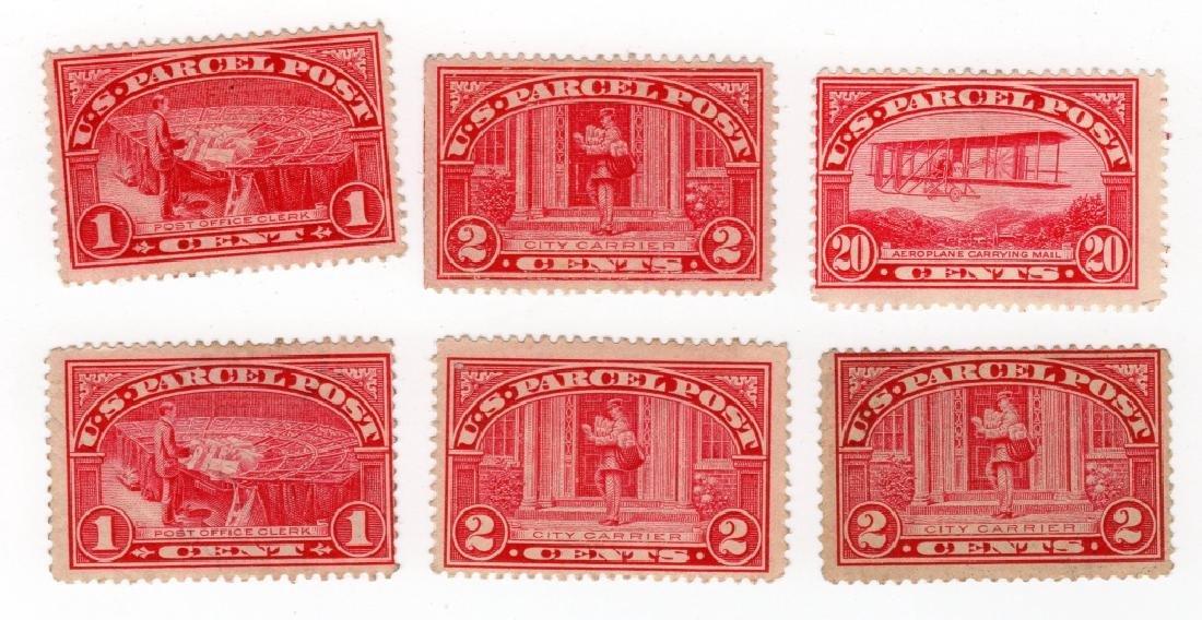 6 US 1913 Parcel post BOB stamps