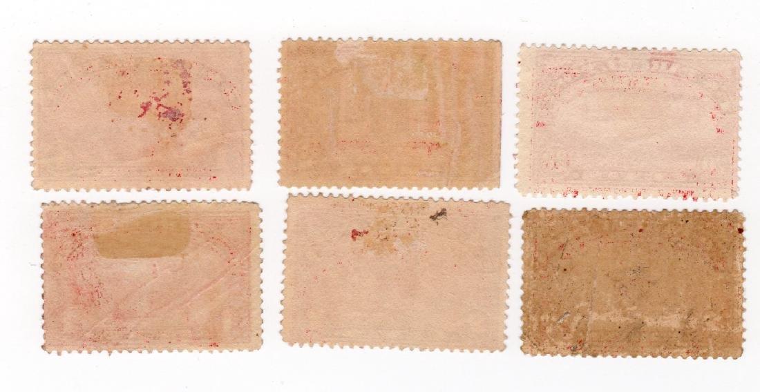 6 US 1913 Parcel post BOB stamps - 2