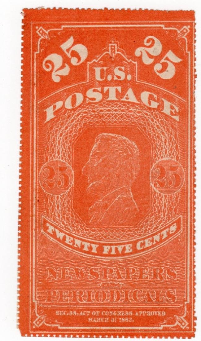 US 25 cents Lincoln Newspaper Periodical BOB stamp