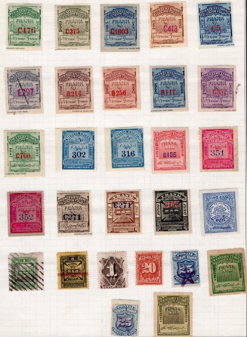 28 US 1879-1895 Telegraph BOB stamps