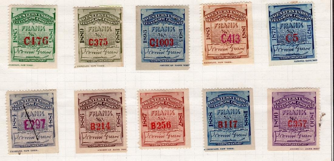 28 US 1879-1895 Telegraph BOB stamps - 2