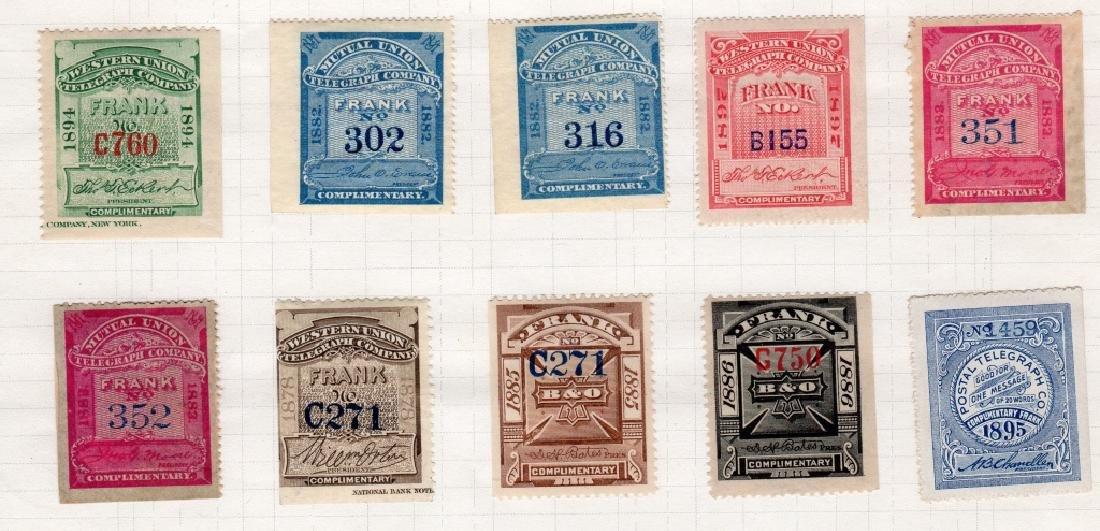 28 US 1879-1895 Telegraph BOB stamps - 3