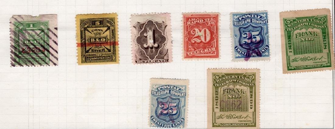 28 US 1879-1895 Telegraph BOB stamps - 4