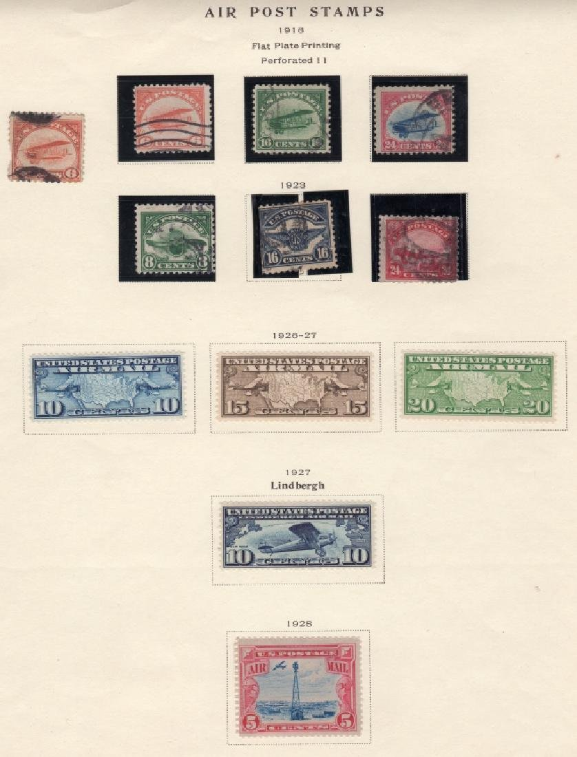 19 US Air post & Trans-Pacific stamps