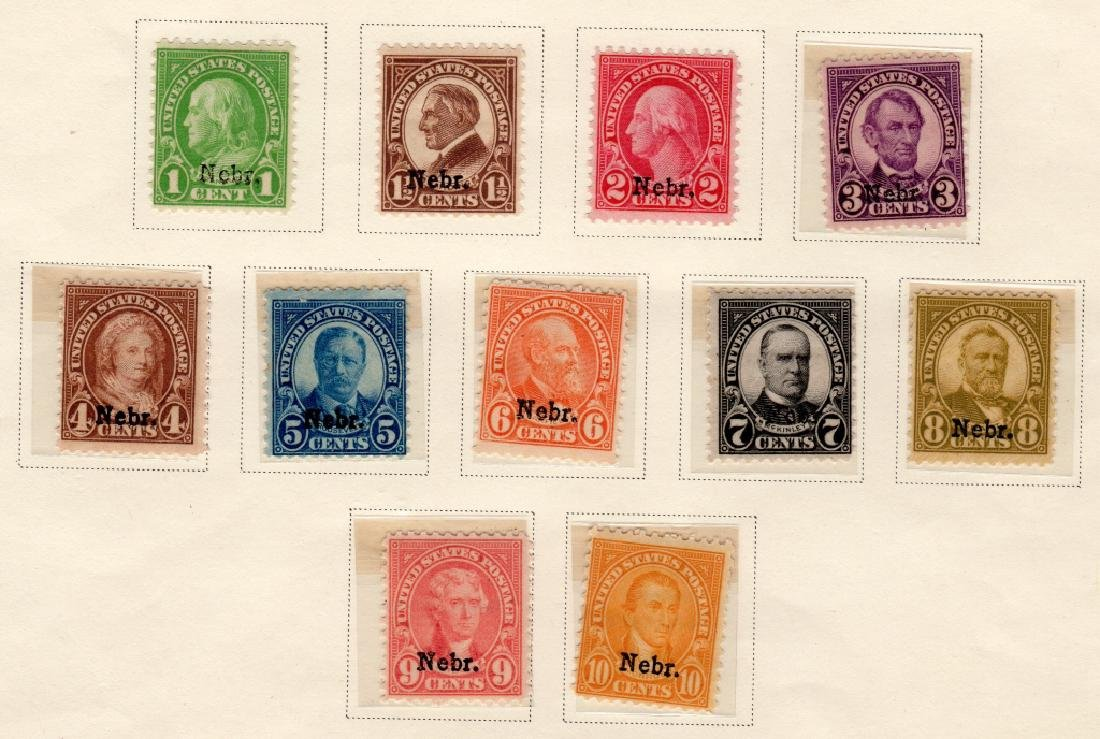 11 US May 1, 1929 Nebr. overprint stamps