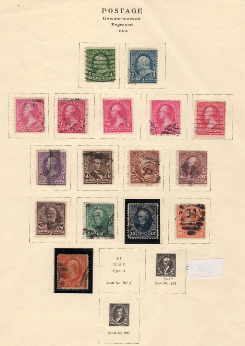 US 1894 Bureau issue engraved  stamps