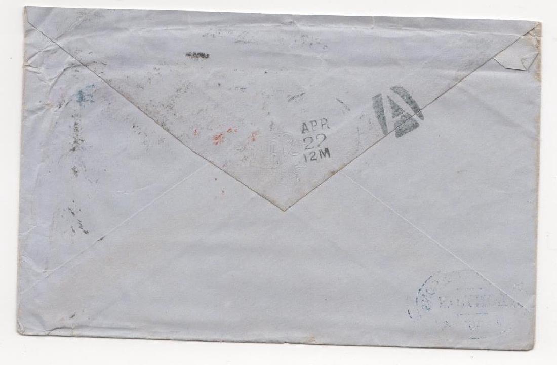 1872  Great Britain  transatlantic  stamp cover - 2