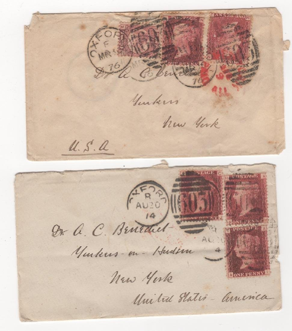 2 Great Britain stamp envelope covers