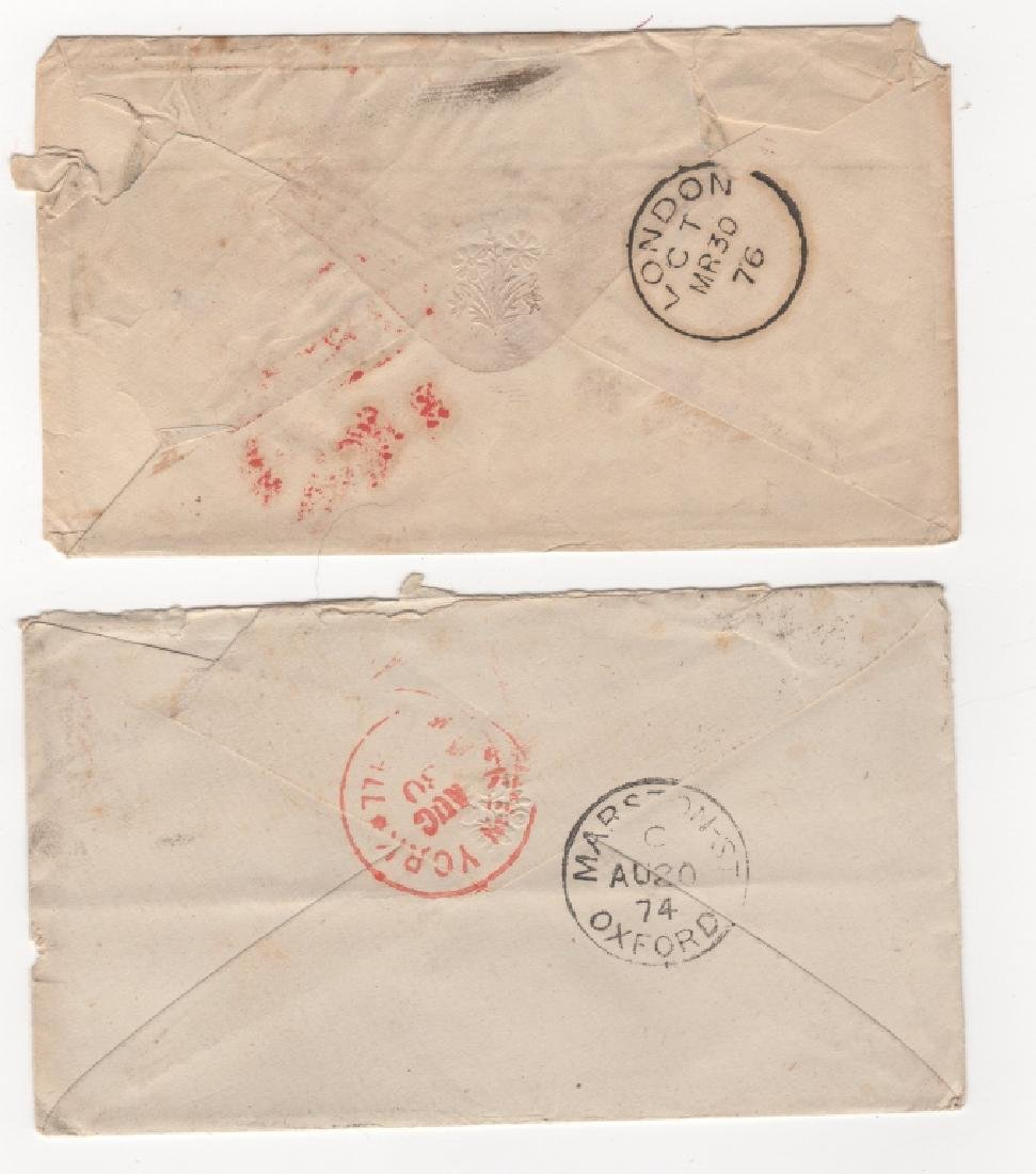 2 Great Britain stamp envelope covers - 2