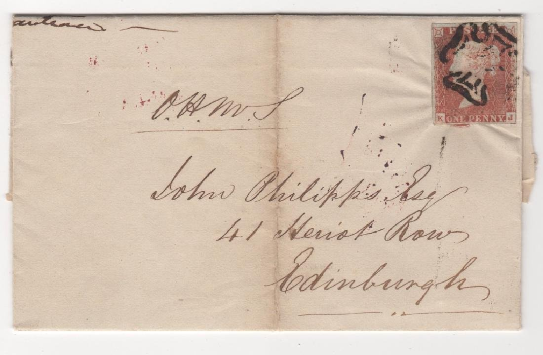1843 Great Britain folded letter stamp cover
