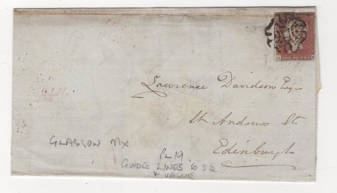 1842 Great Britain  stamp cover