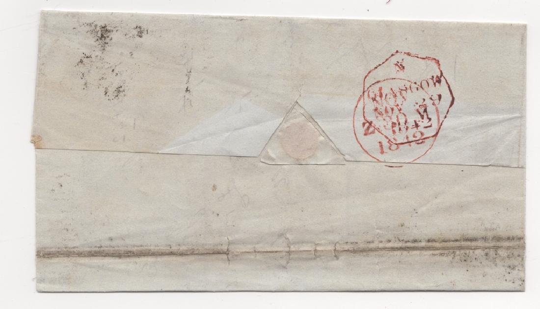 1842 Great Britain  stamp cover - 2
