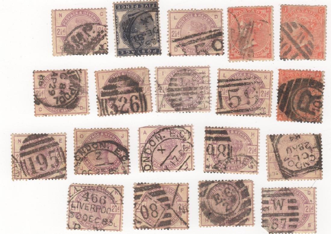 19 Great Britain Queen Victoria stamps