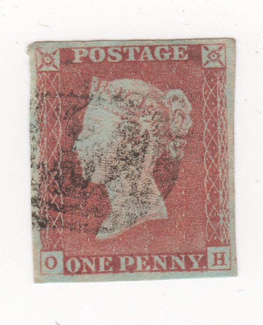 Great Britain Queen Victoria penny red  stamp
