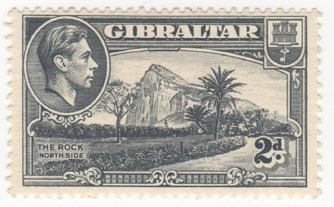 1938-39 Great Britain Commonwealth Gibraltar stamp