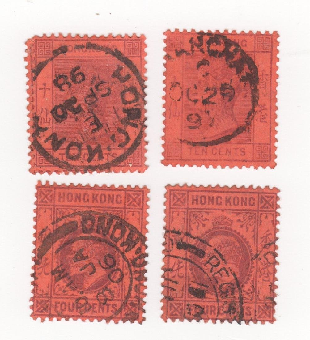 4 Great Britain Commonwealth Hong Kong stamps