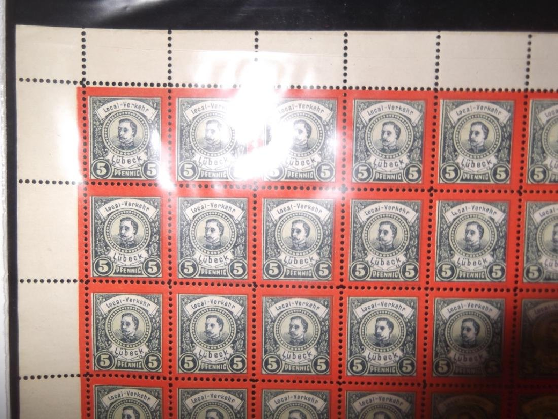 Sheet of 98 1888 German 5 Pfenning  Lubeck stamps - 3