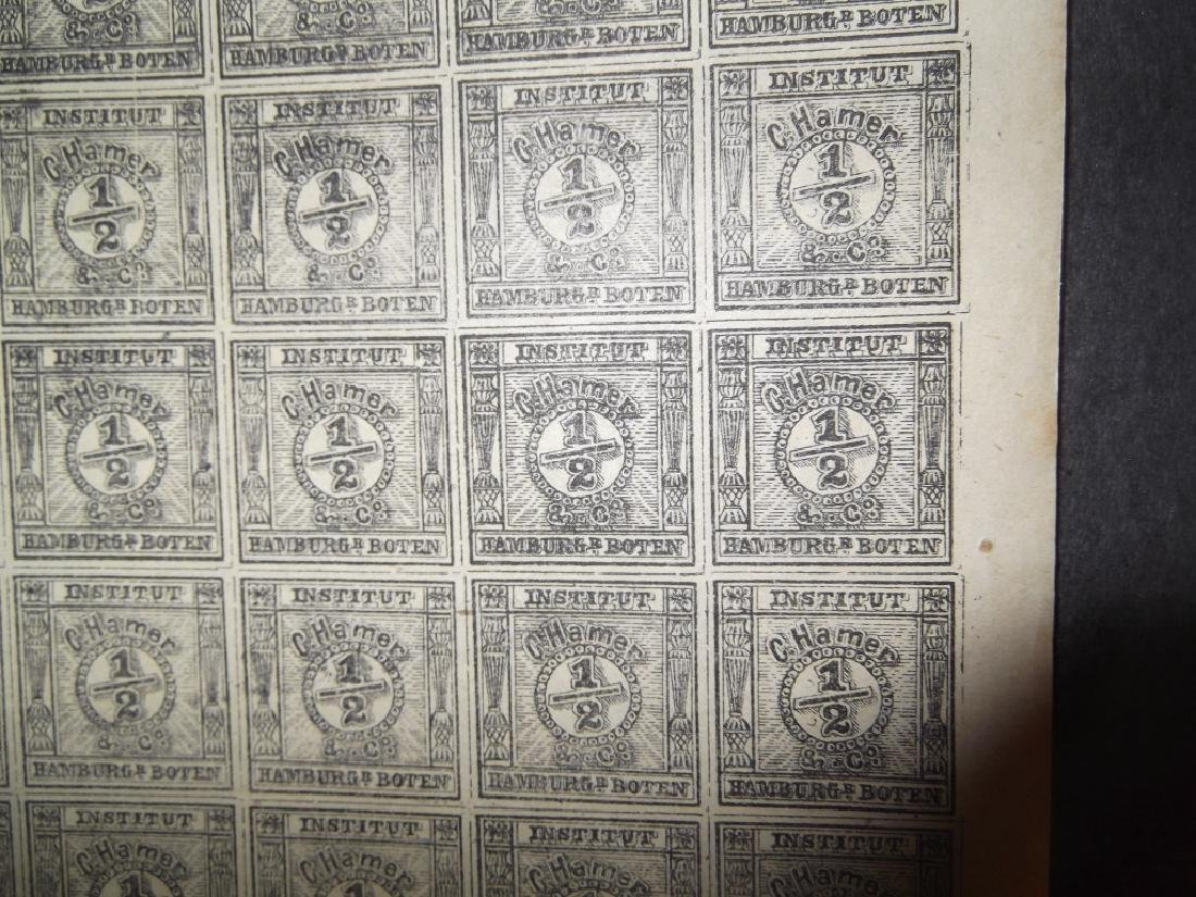 Uncut sheet of 25 The Spiro forgery German 1/2 - 2