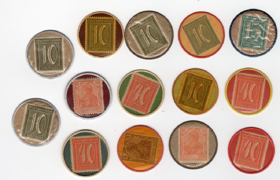 14 Germany Encased Postage Stamps