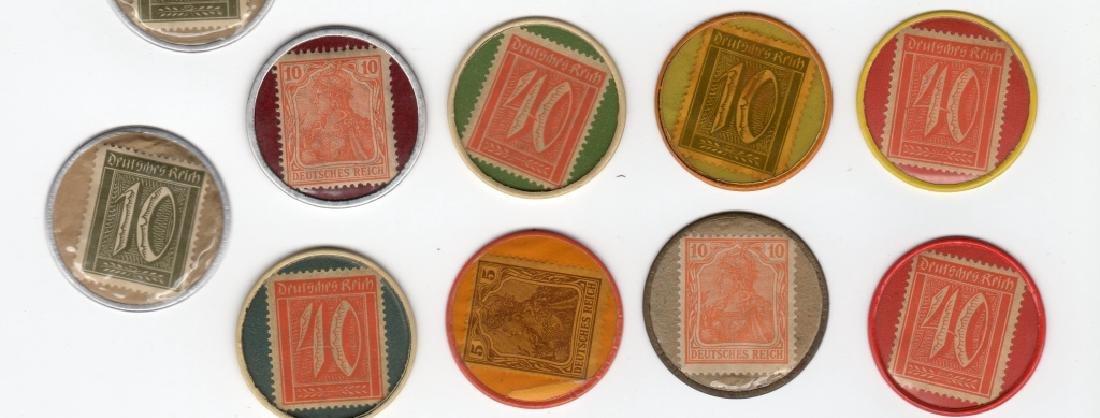 14 Germany Encased Postage Stamps - 3