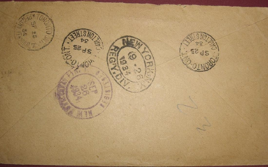 Canada 4 stamped envelope covers & postcard - 5