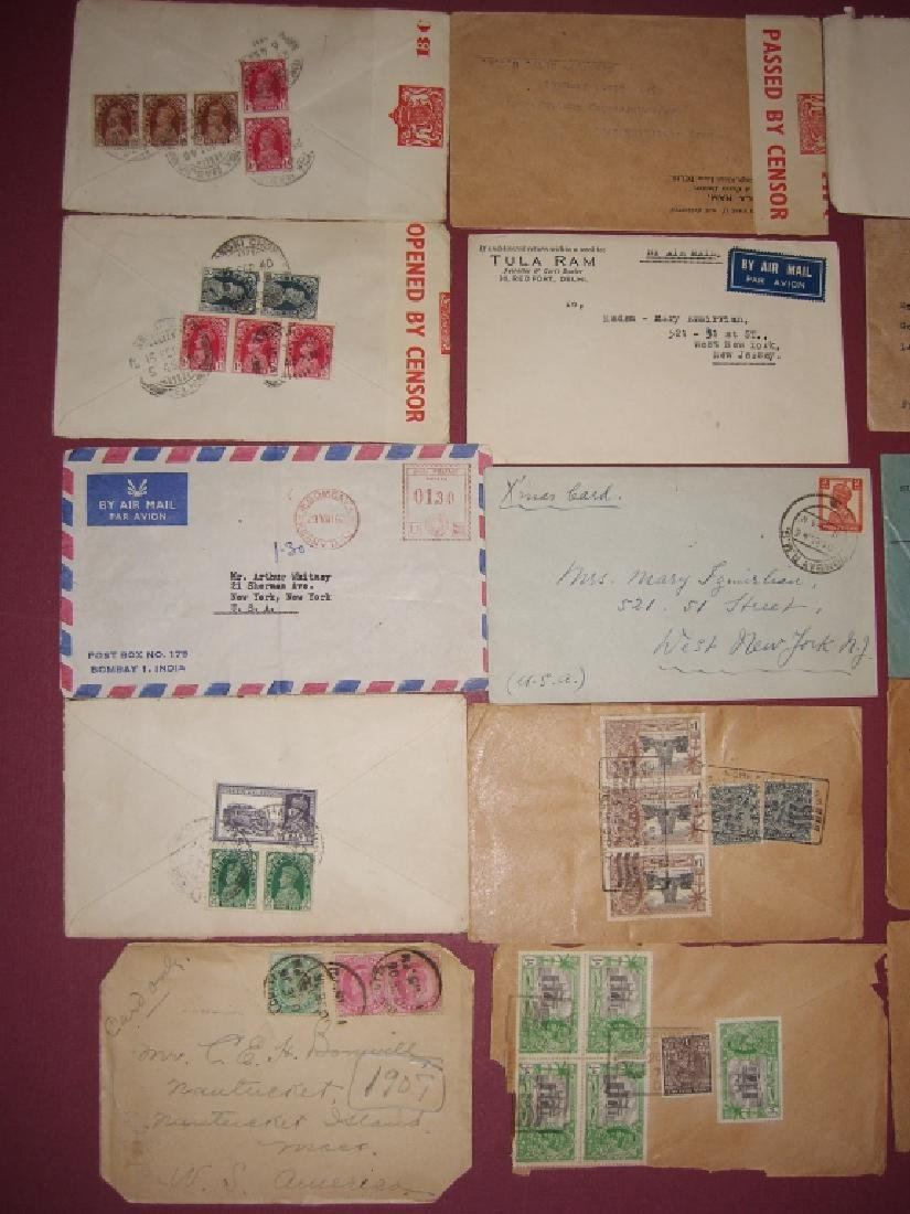 India 23 stamped envelope covers - 10