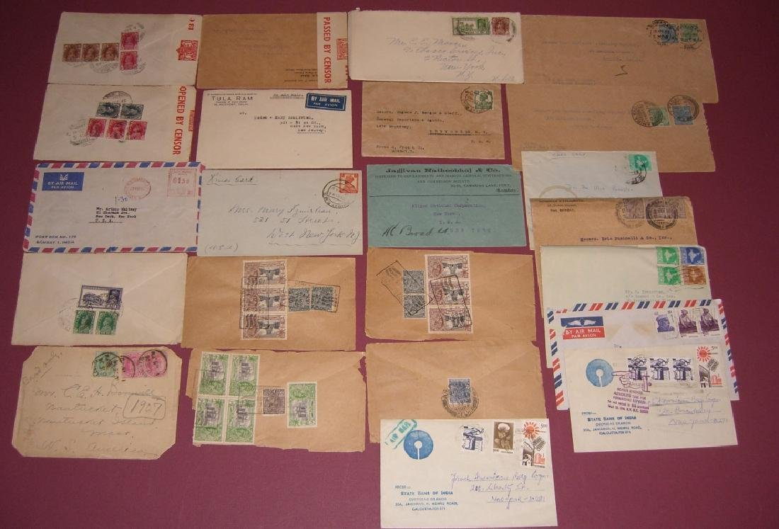 India 23 stamped envelope covers