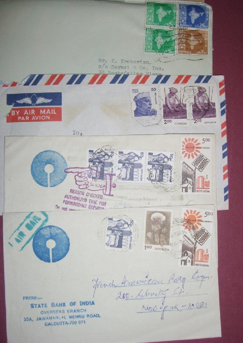 India 23 stamped envelope covers - 6
