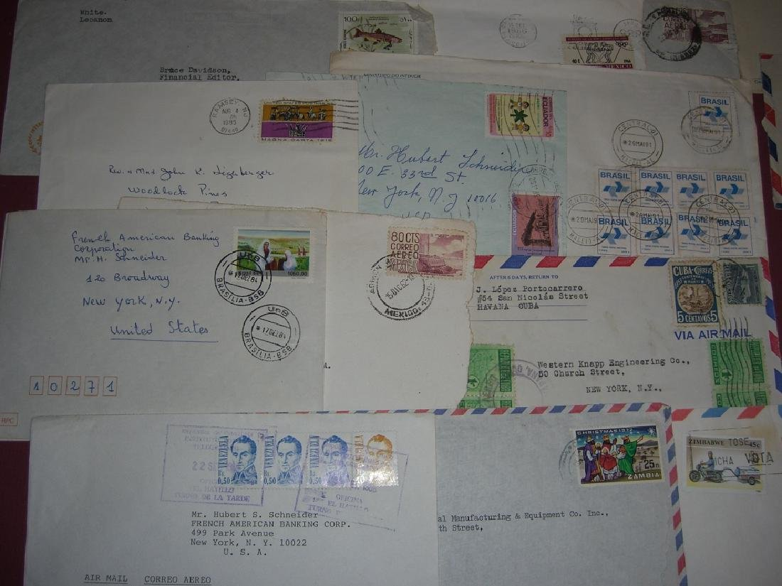 70 assorted world stamped envelope covers - 10