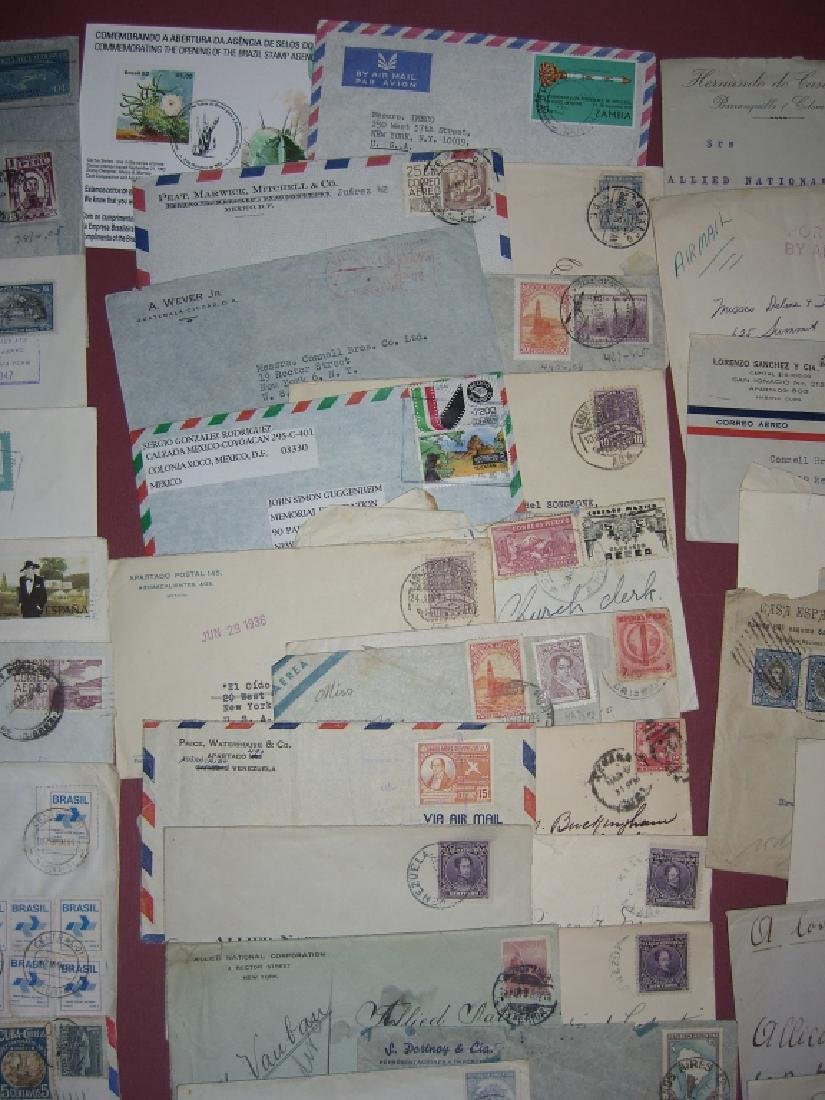 70 assorted world stamped envelope covers - 2