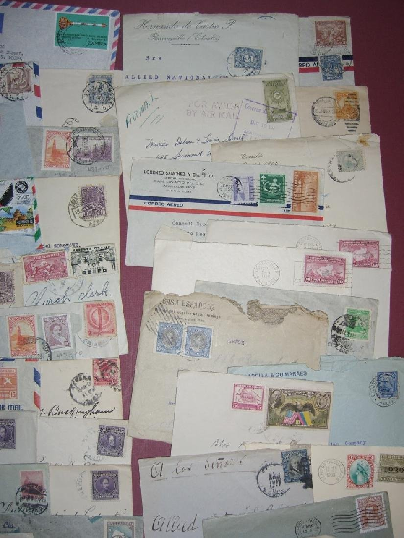 70 assorted world stamped envelope covers - 3