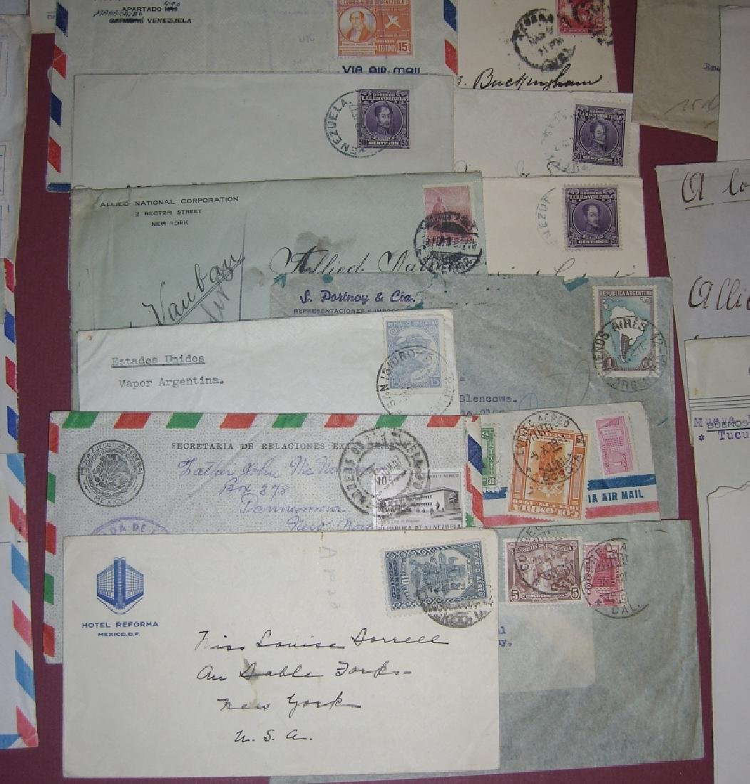 70 assorted world stamped envelope covers - 5