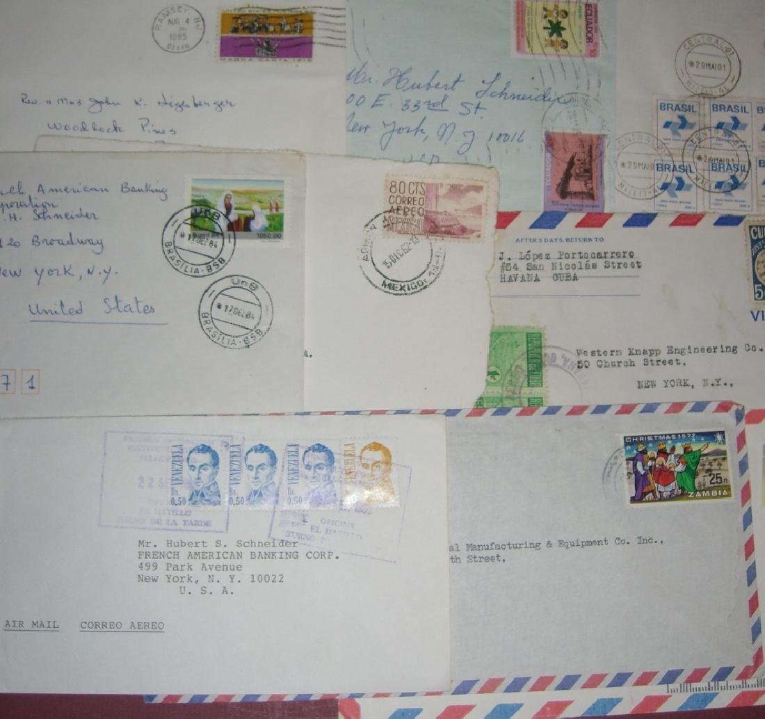 70 assorted world stamped envelope covers - 6