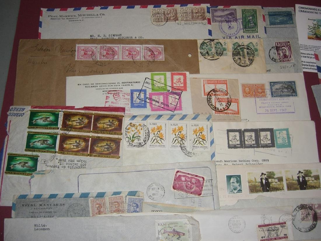 70 assorted world stamped envelope covers - 7