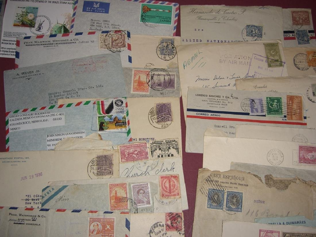 70 assorted world stamped envelope covers - 8