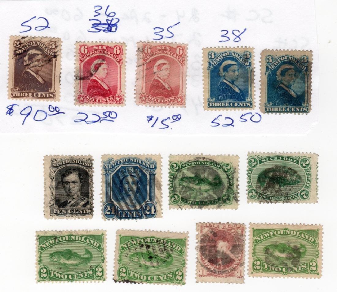 13 Newfoundland Canada stamps