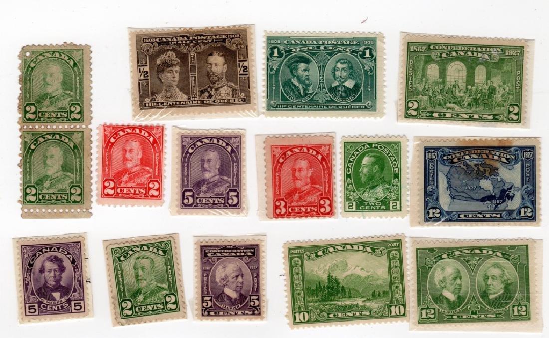 15 Canada stamps 5c 3c 12c 10c 1/2c