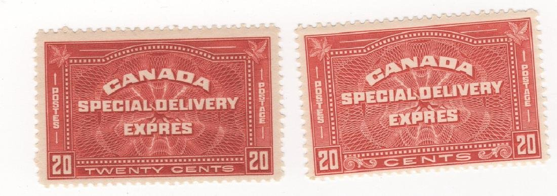2 Canada 20 cents Special delivery express stamps