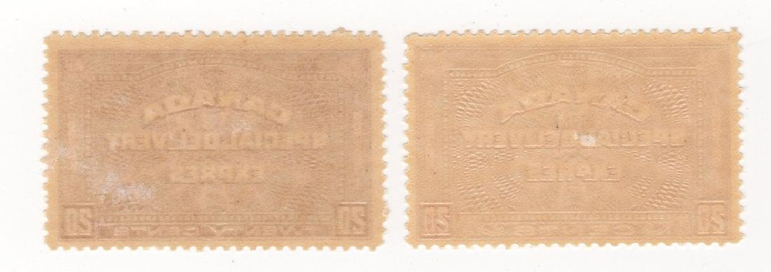 2 Canada 20 cents Special delivery express stamps - 2