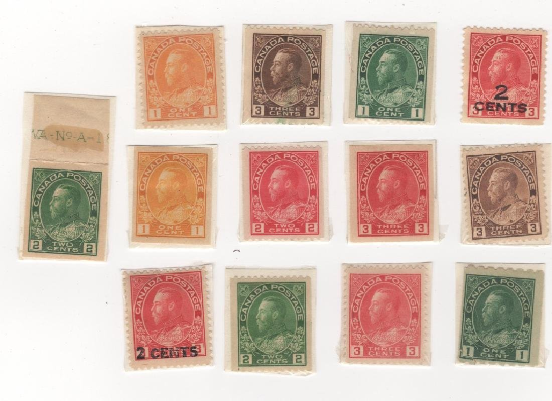 13 1911-1924 Canada King George V (KGV) stamps