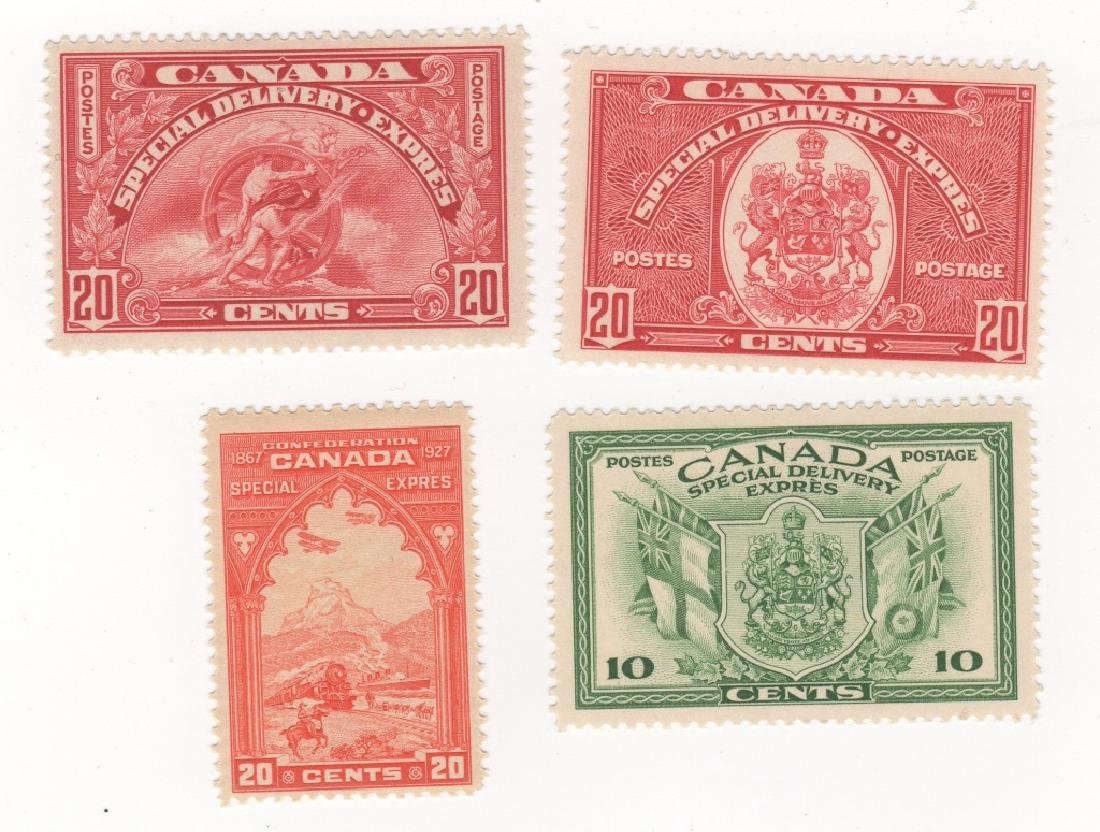 4 Canada special delivery stamps10c 20c