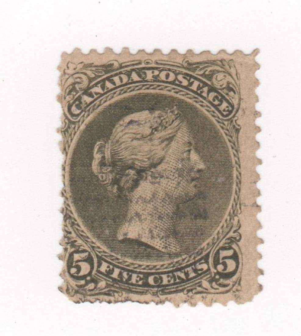 1868 Dominion of Canada 5 cents stamp