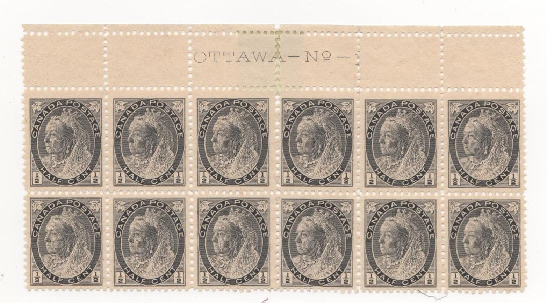 1897 Canada block of 12 1/2 cent  stamps