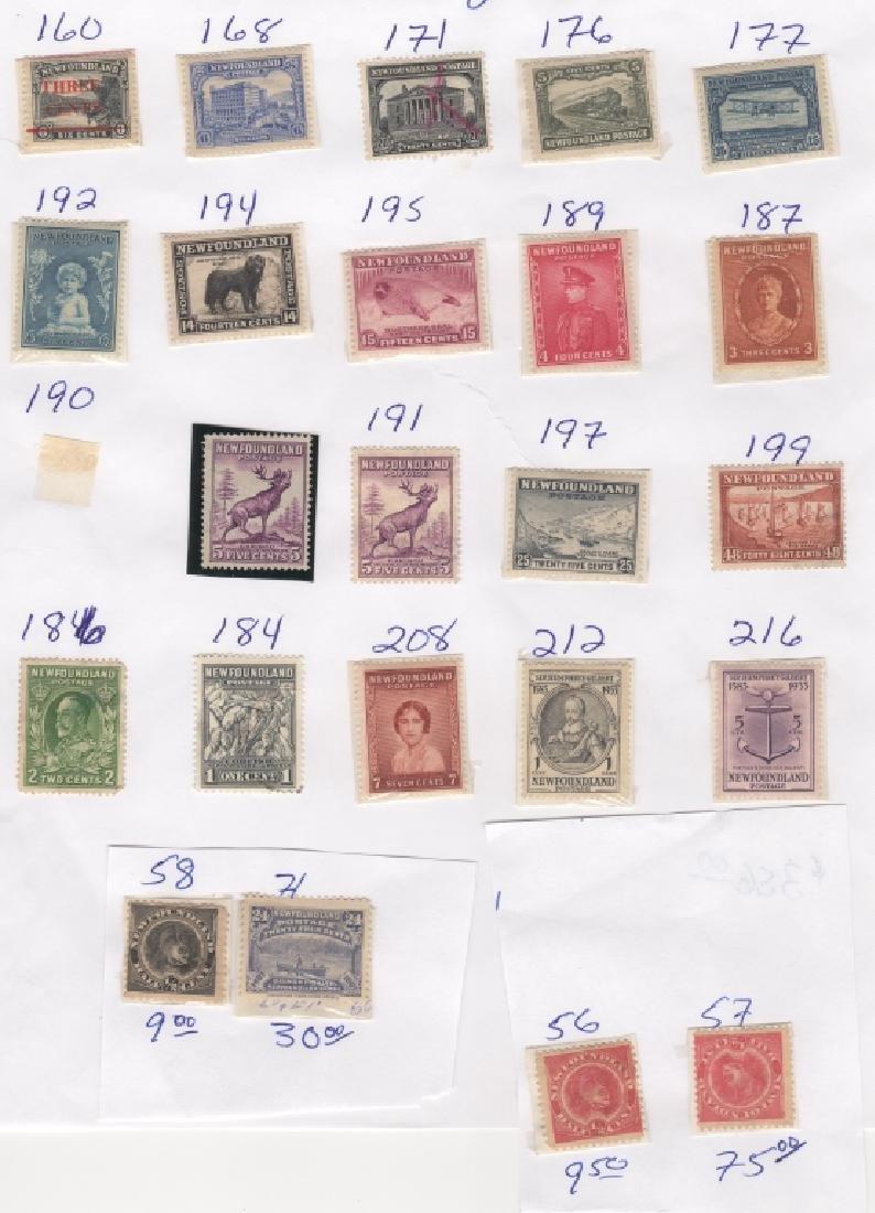 23 Canada New Foundland stamps5c 6c 20c 24c 1/2c
